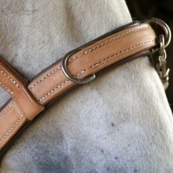 reinforced padded ELEVAGE noseband with 3 strong D-rings